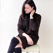 Вязаный свитер платье ручной работы в Екатеринбурге