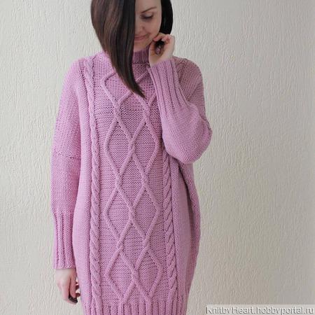 Вязаный свитер платье ручной работы в Москве ручной работы на заказ