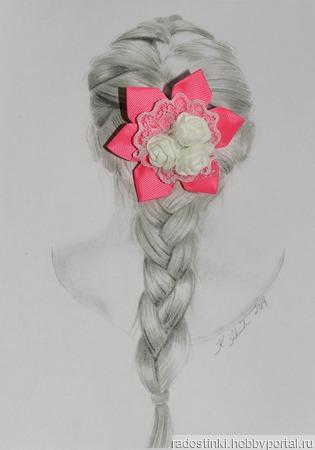 "Резиночки ""Букетик роз"" (цена за пару) ручной работы на заказ"
