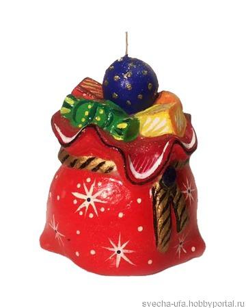 Свечи новогодние и рождественские в ассортименте ручной работы на заказ