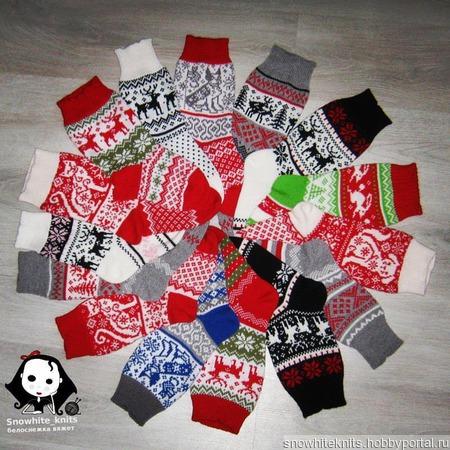 Новогодние носки ручной работы на заказ