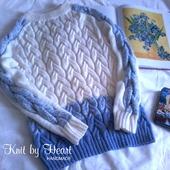 Вязаный свитер женский ручной работы Knit by Heart
