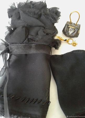 """""""Черная роза""""- наряд для барби ручной работы на заказ"""