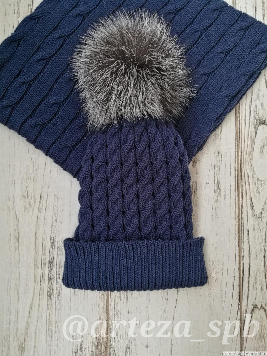 вязаная шапка с косами купить в интернет магазине Hobbyportalru с