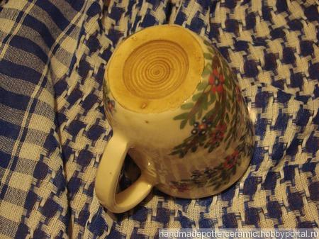 "Чайная кружка ""Цветочек"" ручной работы на заказ"