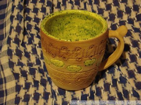 """Чайная кружка """"Индианка"""" ручной работы на заказ"""