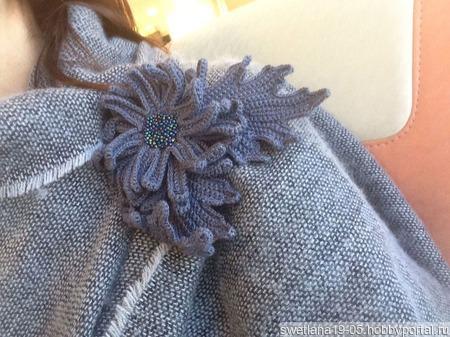 Брошь-цветок ручной работы на заказ
