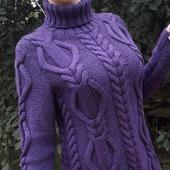 Вязаный свитер ручной работы