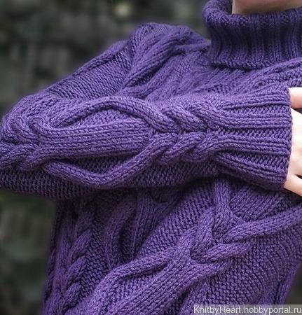 Вязаный свитер ручной работы ручной работы на заказ
