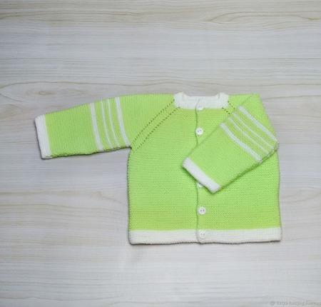 Кофточка для новорожденного Солнечная ручной работы на заказ