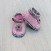 Пинетки туфельки для новорожденной