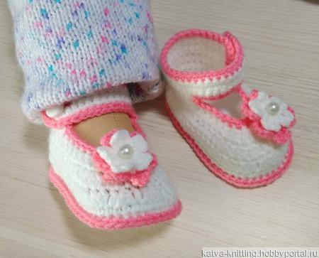 Пинетки туфельки ручной работы на заказ