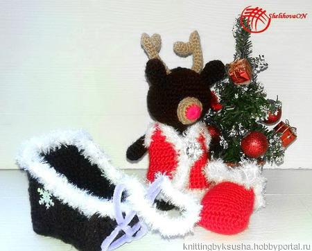 Рождественский олененок ручной работы на заказ