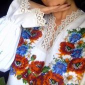 Вышиванка женская Маки с васильками