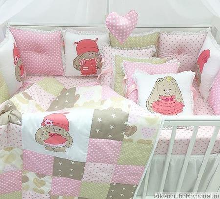 Бортики в кроватку ручной работы на заказ