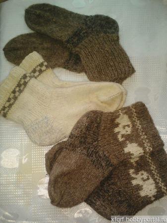 Носки из овечей шерсти ручной работы на заказ