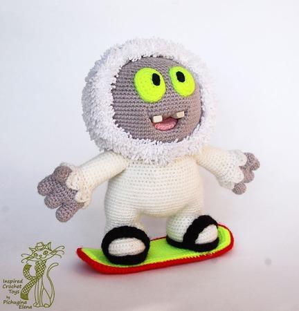 МК по вязанию крючком. Йети Муник. Вязаный снежный человек. Вязаный монстрик. Сделай сам ручной работы на заказ
