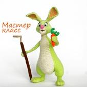 МК по вязанию крючком. Кролик-огородник. Сделай сам. Вязаный зайчик. Заяц крючком.