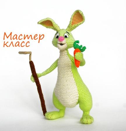 МК по вязанию крючком. Кролик-огородник. Сделай сам. Вязаный зайчик. Заяц крючком. ручной работы на заказ