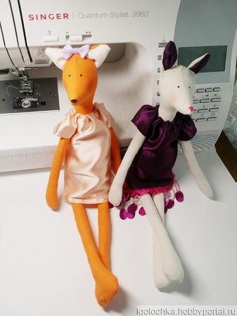 Лисички- сестрички ручной работы на заказ