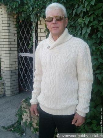 """Свитер мужской ручной работы - модель """"Гармоничный"""" (Олан ) ручной работы на заказ"""