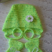 Чепчик и пинетки для малыша