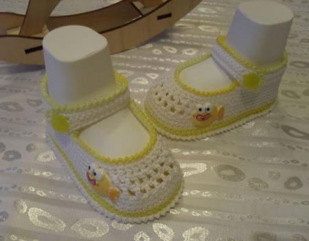 Пинетки-Туфельки с сеточкой ручной работы на заказ