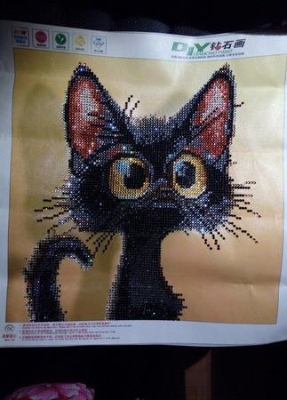 Черный кот ручной работы на заказ