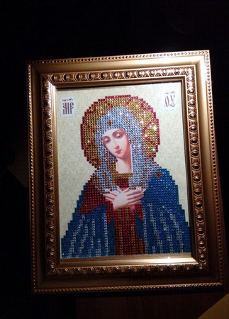 Икона Умиление Пресвятой Богородицы ручной работы на заказ