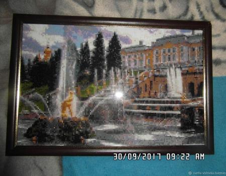 """Алмазная мозаика """"Петродворец"""" ручной работы на заказ"""