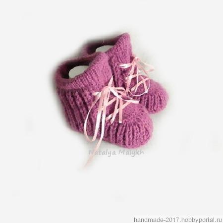 Пинетки ботиночки для новорожденного ручной работы на заказ