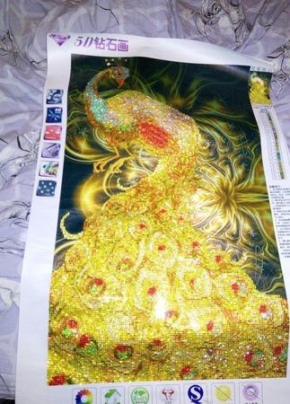 Золотой павлин ручной работы на заказ