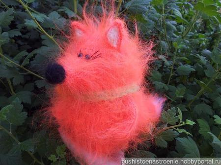 Лисичка, рыжая сестричка. вязаная. пушистик. ручной работы на заказ