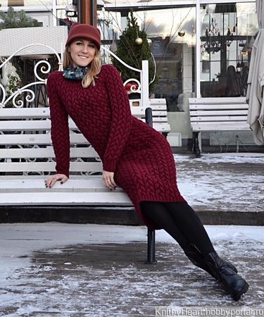 Вязаное платье ручной вязки ручной работы на заказ