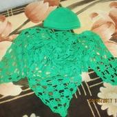 Комплект шаль и шапочка