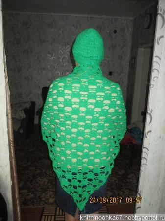 Комплект шаль и шапочка ручной работы на заказ