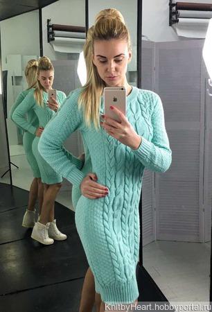 Вязаное платье ручной работы в Москве ручной работы на заказ