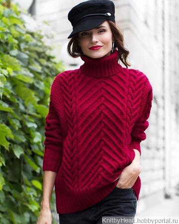Купить вязаный свитер оверсайз в Москве ручной работы на заказ