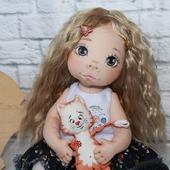 Текстильная кукла Ксюшенька