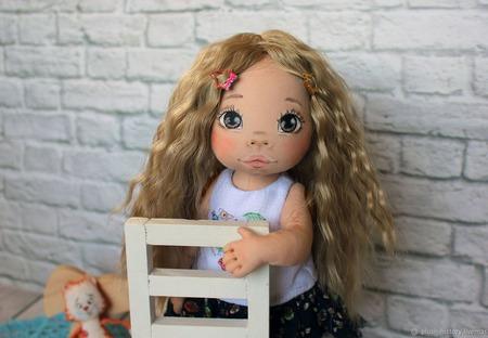 Текстильная кукла Ксюшенька ручной работы на заказ