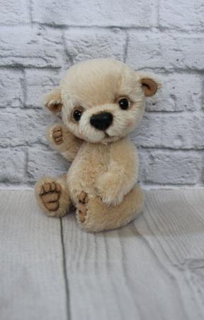 Медвежонок тедди бежевый ручной работы на заказ