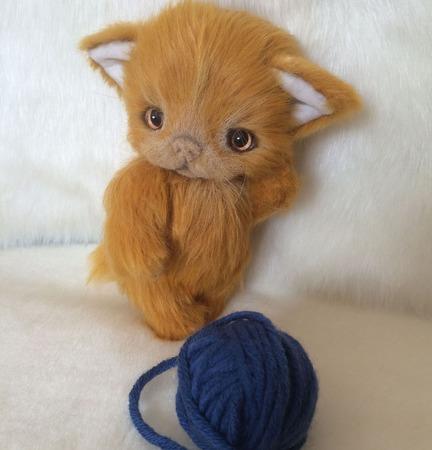 Рыжий котенок тедди ручной работы на заказ