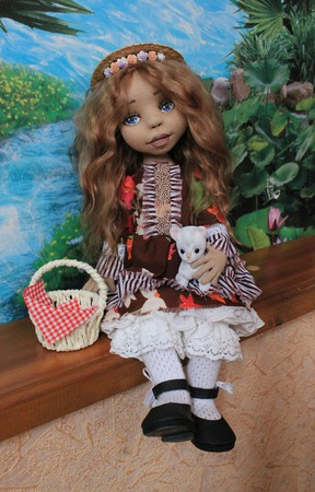 Текстильная кукла Алёна ручной работы на заказ
