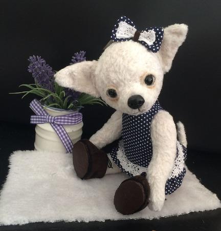 Собачка чихуахуа белая ручной работы на заказ