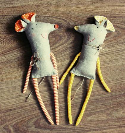 Парочка мышей Акакий и Анфиса Верёвкины ручной работы на заказ