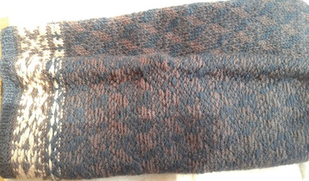 Варежки мужские коричневые ручной работы на заказ