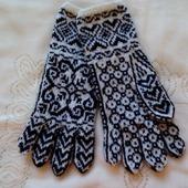"""Перчатки вязаные женские  """"снежинка-2"""""""