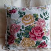 фото: Для дома и интерьера (вышивка крестом розы)