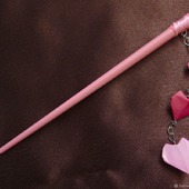 Шпильки-палочки с тремя сердечками-оригами, СКИДКА на пару