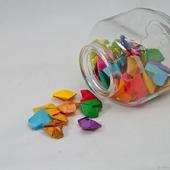 Банка с сердечками-оригами